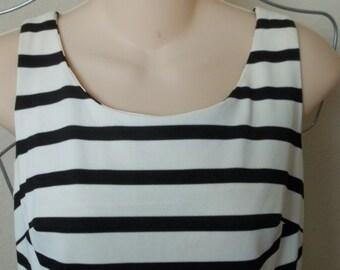 SALE!  1960'S Vintage black and white striped dress