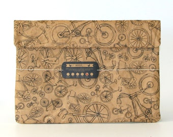 Bicycles All Around Town Laptop Paper Sleeve