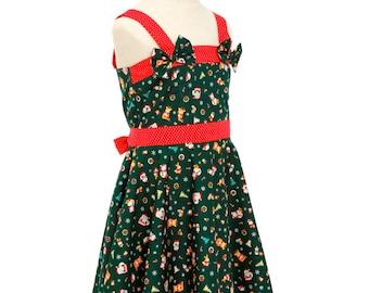 Green Christmas Dress Girls Dress, Birthday Dress, Party Dress, Toddler Dress, Princess Dress, Children's Dresses, Fairy Dress, Kawaii Dress
