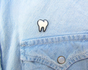 Tooth Lapel Pin, Teeth Pin, Tooth Accessories, Dental Gift, Dental Jewelry, Dentist Pin, Dentist Jewelry, Dental Accessories, Gag Gift