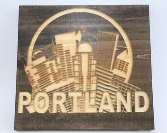 Portland Oregon Arched Cityscape