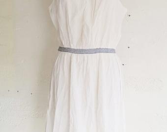 Vintage 70 light white summer dress