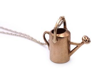 Necklace 14K Watering Can Charm Pendant Fine 14K 18-Inch Chain