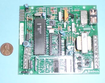 Vintage Contronic PCB Assembly with Original RCA CDP1802ACE COSMAC Processor