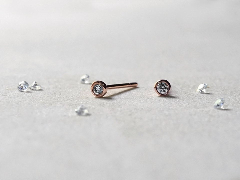 bezel sterling eve cz silver set s studs with stud edging milgrain