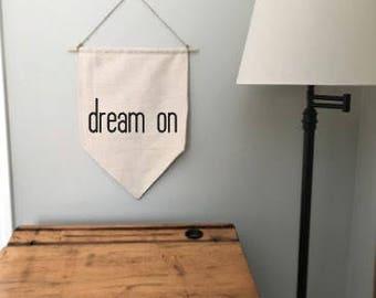 dream on cotton canvas banner