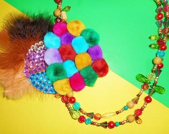 Bright Bohemian Corsage Necklace