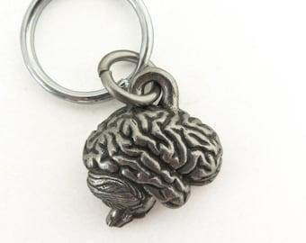 Human Brain Keychain - Psychology Keychain, Neurology Keychain, Nervous System, Anatomy