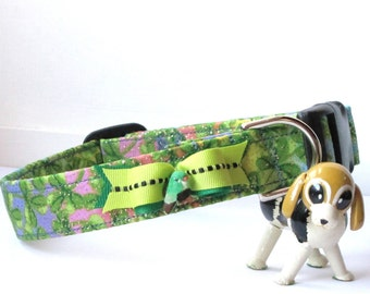 Shamrocks, and Glitter, and Rainbows..Oh My! Pet Collar
