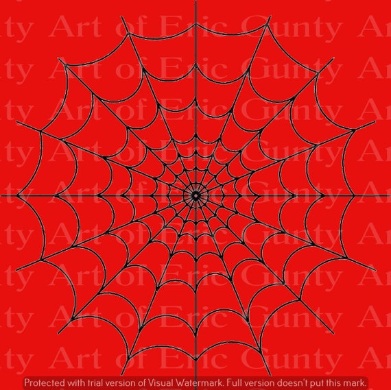 Red Halloween Spiderweb Birthday - Edible Cake and Cupcake Topper For Birthday's and Parties! - D24128