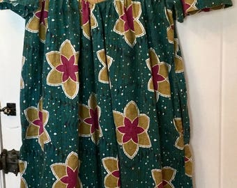 Vintage mumu muumuu style dress cotton pullover hippie boho festival