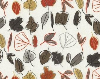 Woodwinked by Dear Stella - Leaves Bone (STELLA-330) - 1 yard
