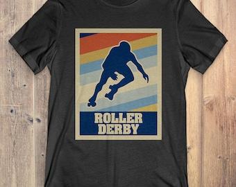 Roller Derby T-Shirt Gift: Vintage Style Roller Derby
