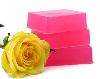 Lemon Rosewater Soap Bar, Handmade Artisan Soap