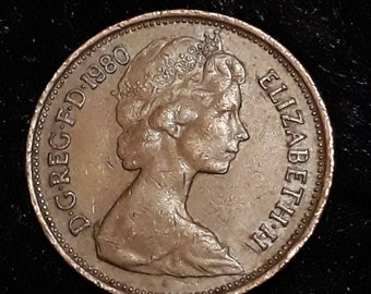1980 Uk Circulated 2 New Pence Coin