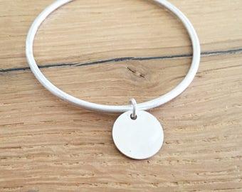 Sterling silver bracelet, Boho bangle, Stacked bangle, Silver bangle, Boho bracelet, Everyday bracelet, Simple bangle, Minimalist bangle