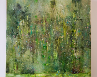 Grass - One of a Kind Original Large Abstract Painting On Canvas by Gleb