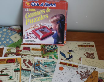 Ohio Art Etch A Sketch Games and Puzzles, 1981, 18 Games, Bugs Bunny, Sports