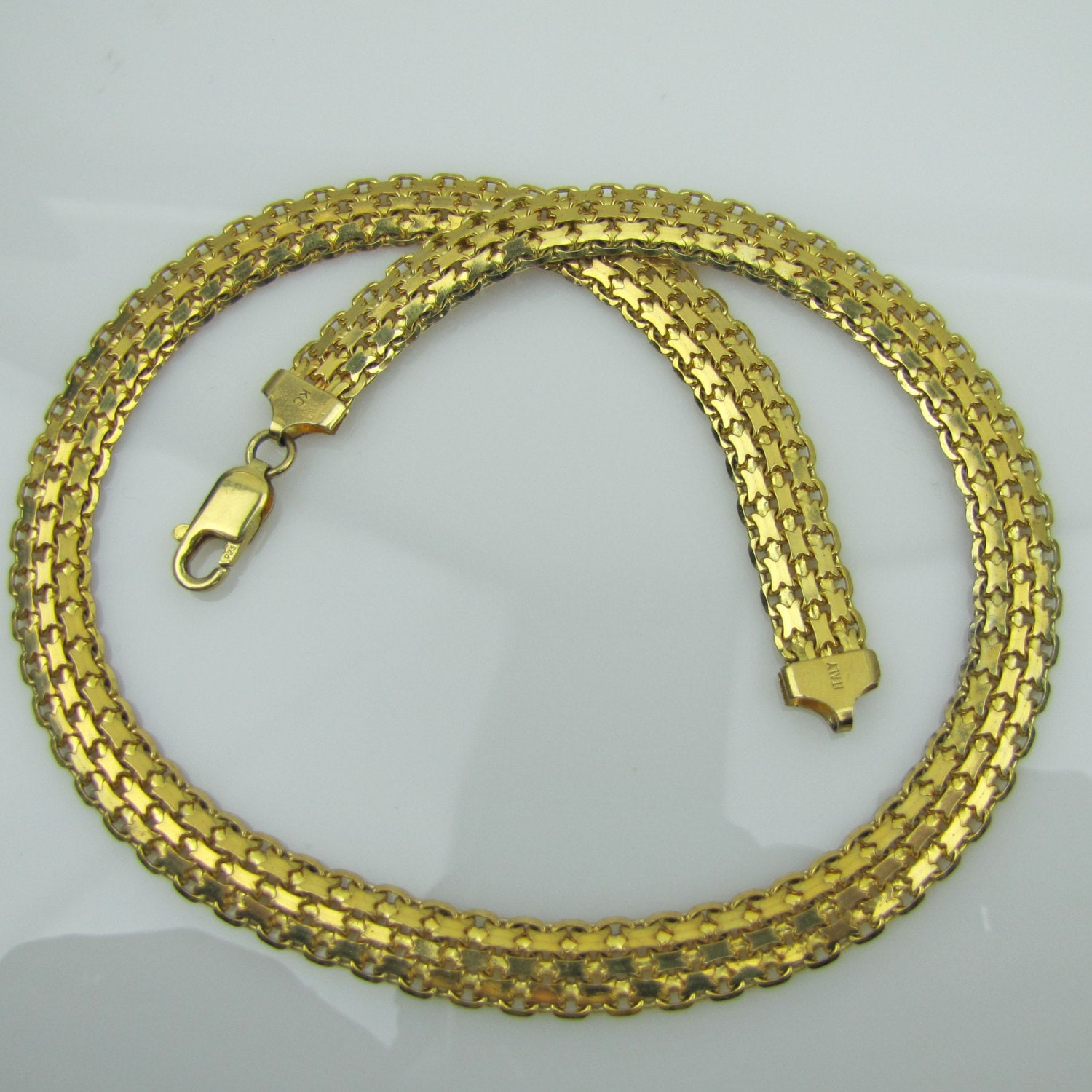 Italian Gold Panther Collar Necklace 18K Gold Plated 925