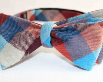 Dorman Check Bow Tie - Blue/Red