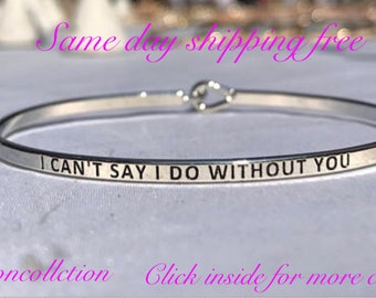 i can day I do without you - inspired thin hook bracelet