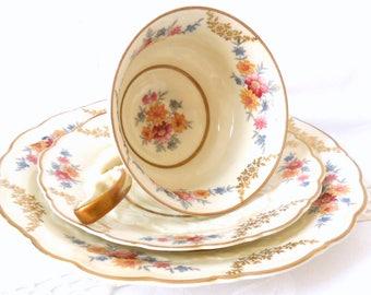 Weimar tea cup trio tea cups and saucers german teacup vintage tea set Weimar tea set tea party 128