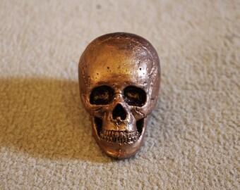 Vermeil mini skull