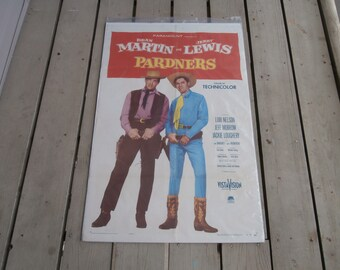 "Vintage 1956 Pardners 41"" X 27"" Movie Poster! Dean Martin, Jerry Lewis!"