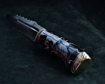 Exclusive DAMASCUS Steel 500 Layer Custom Handmade KNIFE *WILD*  for Tourist, Hunting, Kitchen  + Leather Sheath