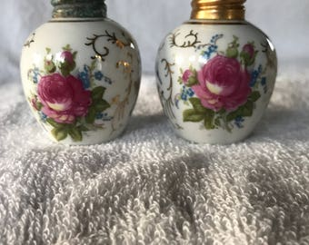 Vintage porcelain salt and pepper shakers