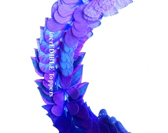 Edible Wedding Decorations - Purple OMBRE Edible Butterflies - Cake Supplies, Decorations, Something Blue