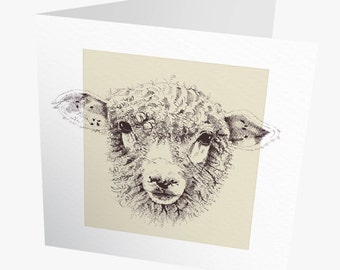 Sheep Card | Sheep Greeting card  | Mother's day card | Artist card