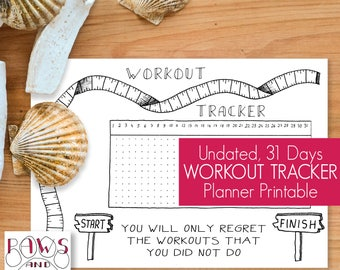 Printable Workout Tracker • A5 Planner Inserts • Fitness Planner • Workout Planner • Workout Journal • Fitness Exercise Sports • Fitness Log