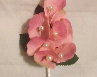 Pink petal buttonhole