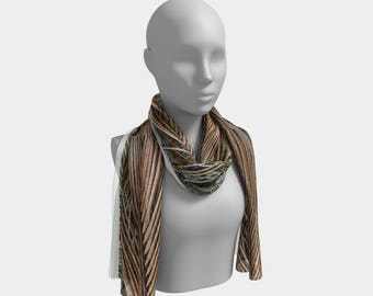 Palm Fronds Long Scarf