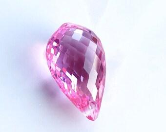 XL Hot Pink Topaz Briolette Focal