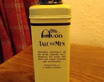 """Vintage """"1950's"""" AVON """"Talc For Men"""" - TINDECO Tin"""