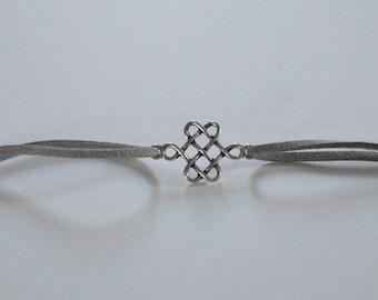 Light grey suede bracelet