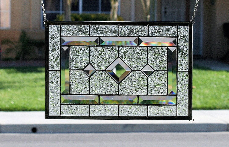 Stained Glass Window PanelDIAMONDSClear Stain