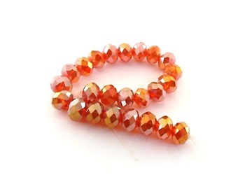 Beads Hyacinth Red AB Chinese Crystal