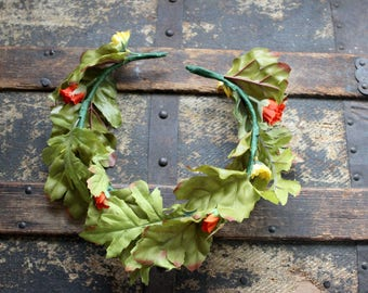 Campfire Faerie Flower & Leaf Crown - Wreath - Tiara - Headband - Prom - Bridal - Wedding