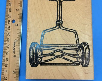 Lawn Mower Rubber Stamp