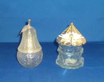 Vintage Avon Pear Lumier Cologne Decanter, Vintage Avon Dovecote Birdhouse Cologne Decanter