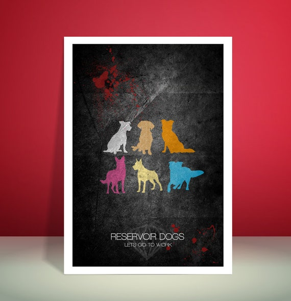 Reservoir Dogs // Quentin Tarantino // Minimalist Movie Poster // Unique Art Print