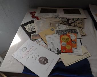 Lot of Vintage Antique  Paper Epherma