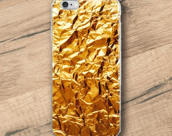 Crumpled Golden Foil, Phone Case For iPhone 8 iPhone 8 Plus, iPhone X, iPhone 7 Plus, iPhone 6, iPhone 6S