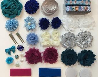 Snow Princess Headband DIY Kit - 42pc
