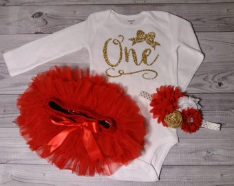 First birthday, outfit, girl, shirt, cake smash outfit, 1st birthday outfit, girls birthday outfit, girl, one year old, birthday, red, gold
