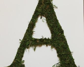Large Custom Moss Letter | Wall Decoration | Customizable Wedding Letter
