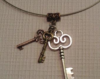 Three Keys Necklace